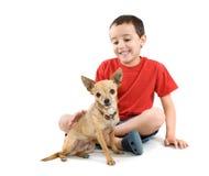 Acariciar el perro imagen de archivo libre de regalías
