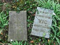 Acaricie el cementerio del ` s, Troon, Ayrshire del sur Foto de archivo