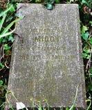 Acaricie el cementerio del ` s, Troon, Ayrshire del sur Imágenes de archivo libres de regalías