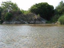 Acarnania和Aetolia的希腊Achelous河 库存照片