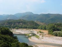 Acarnania和Aetolia的希腊Achelous河 免版税图库摄影