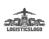 Acarree el logotipo, logotipo del cargo, camiones del cargo de la entrega, logotipo logístico stock de ilustración