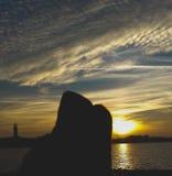 Acarreo de la puesta del sol Imagen de archivo libre de regalías