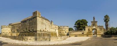 Acaya-Schloss lecce Lizenzfreies Stockfoto