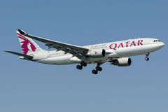 A7-ACB Qatar Airways, Airbus A330 - 300 Imagens de Stock