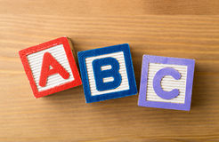 ACB toy block Stock Image