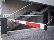 Accès automatique d'entrée de bâtiment de parking de barrière de porte Image libre de droits