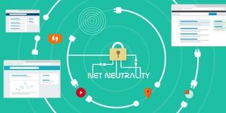 Accès d'Internet gratuit de neutralité nette Images stock