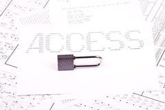 ACCÈS de cadenas et d'inscription Image libre de droits