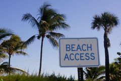 Accès de plage Photos libres de droits