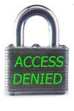 accès refusé Images stock