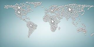 Accédez au globe Image libre de droits