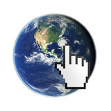 Accédez au globe Image stock