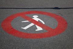 Accédez au signe refusé Photo stock