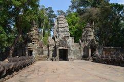 Accédez au temple de Preah Khan. Image stock