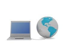 Accédez en monde Image stock