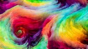 Accélération de peinture de Digital Photographie stock