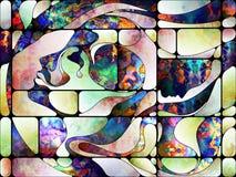 Accélération de verre coloré Photo stock