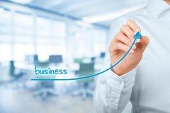 Accélérez la croissance d'affaires image stock