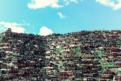 Accademia del buddista di Larong Wuming fotografie stock