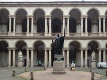 Accademia di Brera在米兰 免版税库存照片