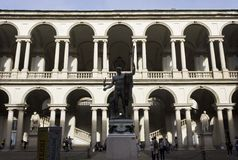 Accademia di Brera courtyard in Milan Royalty Free Stock Image