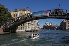 Accademia - Grand Canal - Venice - Italy Stock Images