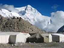 Accampamento basso al Mt. Everest Immagini Stock Libere da Diritti