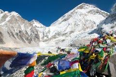 Accampamento basso del Everest Immagine Stock