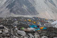 Accampamento basso del Everest Fronte del nord Fotografia Stock