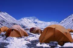 Accampamento basso del supporto Everest fotografia stock libera da diritti