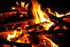 Accampamento del fuoco immagine stock