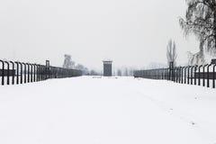 Accampamento di Auschwitz, Polonia Fotografie Stock Libere da Diritti