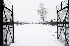 Accampamento di Auschwitz, Polonia Fotografie Stock