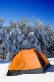 Accampamento di inverno immagini stock libere da diritti