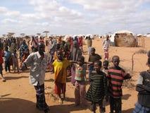 Accampamento di rifugiato di fame della Somalia Fotografia Stock