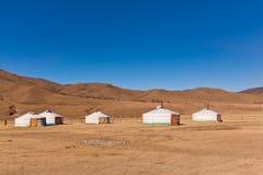 Accampamento di Yurt Fotografie Stock