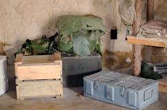 Accampamento militare Immagini Stock