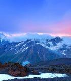 Accampamento in montagna Fotografia Stock