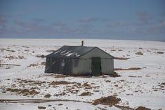 Accampamento nel deserto di inverno Fotografia Stock Libera da Diritti