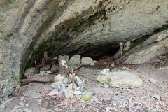 Accampamento preistorico Fotografie Stock