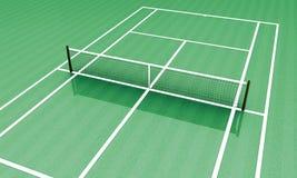 Accampamento verde di tennis Fotografia Stock Libera da Diritti
