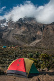 Accampandosi a Barranco, Kilimanjaro Immagini Stock