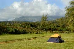 Accampandosi in Kauai scenico Fotografia Stock Libera da Diritti