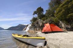 Accampandosi nel Patagonia fotografia stock libera da diritti
