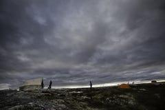 Accampandosi nella tundra Fotografia Stock