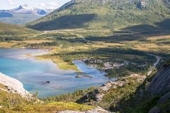 Accampandosi in Norvegia fotografia stock libera da diritti