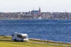Accampandosi a Roskilde Fotografie Stock