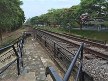 Accanto alla ferrovia Immagini Stock Libere da Diritti