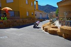 Accantonare della motocicletta di Supermotard fotografie stock